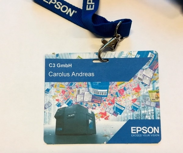 EPSON visitor badges M (102x82) 500 tickets